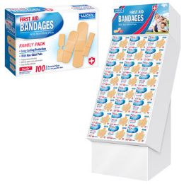 96 Units of Bandages 100ct Family Pack - Bandages and Support Wraps