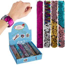 48 Units of Slap Bracelet Mermaid Reversing - Toys & Games