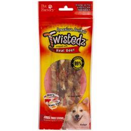 24 Wholesale Dog Treats Beef Meat Wrap 4pk