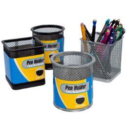 24 Bulk Pencil Pen Holder Iron Mesh