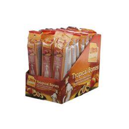 24 Wholesale Dog Treat Ultra Chewy Tropical Bone Mango 2.8 Oz In Counter