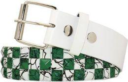60 of Green Checkered Studded Belt