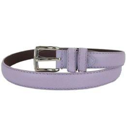 24 of Plain Purple 1 Inch Width Women Belt Assorted Sizes