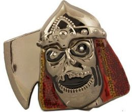 36 Units of Axe Skull Belt Buckle - Belt Buckles