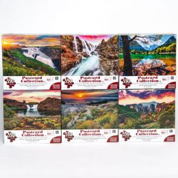 6 Units of Puzzle 550pc Postcard Collection - Puzzles