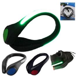 72 Units of Shoe Safety LED Light Mixed Color - Flash Lights