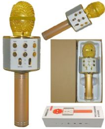 6 Bulk Phone Karaoke Microphone In Gold