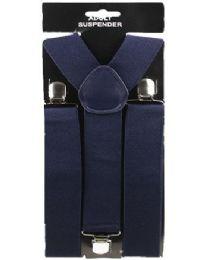 48 of Adult Solid Navy Suspender