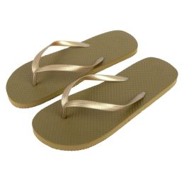 50 Units of Women's Flip Flops Gold - Women's Flip Flops