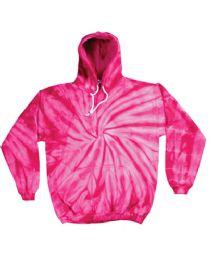 12 of Pull Over Hoody Spider Pink Tie Dye Fleece Lining