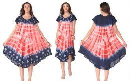 12 Units of Rayon American Flag Dress - Womens Sundresses & Fashion