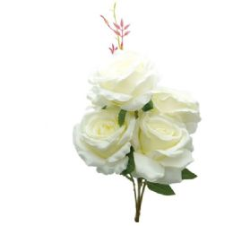 """24 Units of White Rose 20"""" - Artificial Flowers"""