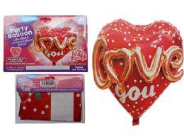 144 Wholesale Love You Foil Balloon Pop-Up