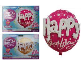 144 Wholesale Happy Birthday Foil Balloon Pop-Up