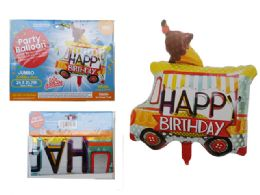 144 Wholesale Happy Birthday Truck Foil Balloon