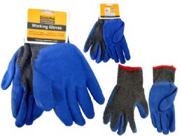 144 Wholesale Gloves Working Men 2asst Clr