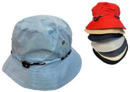 24 Wholesale Solid Color Bucket Hat