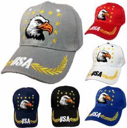36 Wholesale Eagle Star USA Baseball Cap