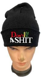 36 Units of Don't Ask Me 4 Shit Black Winter Hat - Winter Beanie Hats