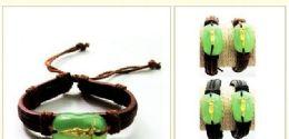 96 Wholesale Faux Jade Jesus Bracelet