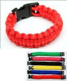 96 Wholesale Para-cord Survival Bracelet Solid Color