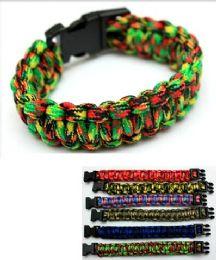 96 Wholesale Paracord Survival Bracelet