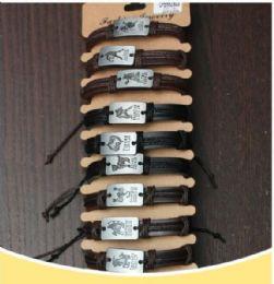 96 Wholesale Silver Zodiac Bracelet
