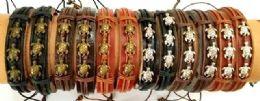 96 Wholesale Faux Leather Bracelet Turtle