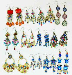 48 Wholesale Retro Vintage Earring with Stones