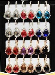72 Wholesale Rhinestone Water Drop Fashion Earring Stand