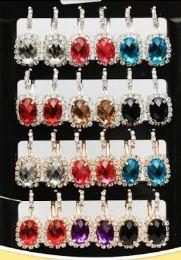 72 Wholesale Oval Rhinestone Fashion Earring