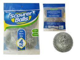 96 Units of 4 Pc Scourer Balls - Scouring Pads & Sponges