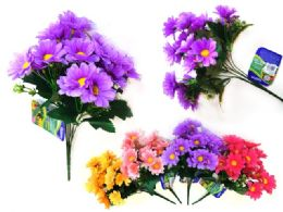 96 Units of Daisy Flower Bouquet - Artificial Flowers