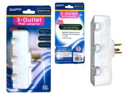 24 of Outlet Adapter 3 Plugs White Clr Etl