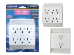 96 of Outlet Adapter 6 Plugs White Clr Etl Ul Std