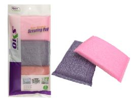 120 Units of 3pc Scouring Sponges - Scouring Pads & Sponges
