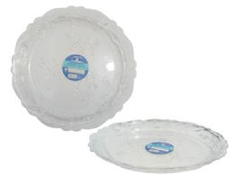 48 Units of Crystal-Like Tray Rd - Serving Trays
