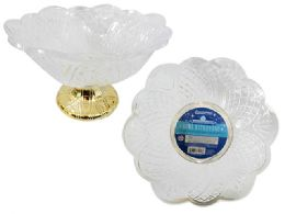 48 Units of Crystal-Like Bowl With Gold Footing - Kitchen & Dining