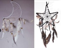 12 Units of Moon and Star Shaped Dream Catchers - Home Decor