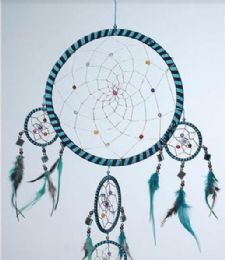 12 Units of Dream Catchers With Stripes - Home Decor