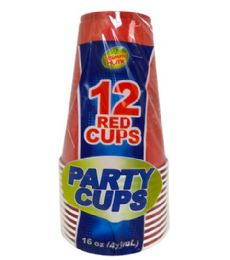 24 Wholesale 12PC 16OZ RED PARTY CUPS