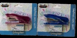 24 Units of Compact Desk Stapler - Staples and Staplers