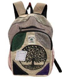 "5 Units of Tree of Life Himalayan Hemp Handmade Backpacks - Backpacks 16"""
