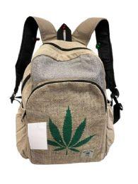 "5 Units of Himalayan Hemp Handmade Weed Sign Backpack - Backpacks 16"""