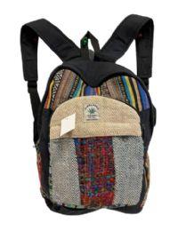 "5 Units of Himalayan Hemp Handmade Backpacks - Backpacks 16"""