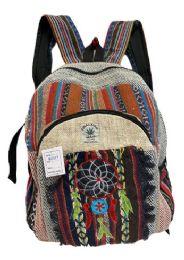 "5 Units of Dream Catcher Himalayan Hemp Handmade Backpack - Backpacks 16"""