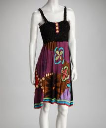12 Units of Tie Dye Nepal Cotton Dress With Flower Embroidery - Womens Sundresses & Fashion