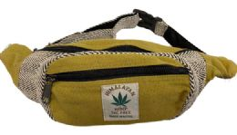 10 Units of Himalayan Hemp Handmade Fanny Pack With Adjustable Waist - Fanny Pack