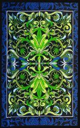 5 Units of Hemp Leaf kaleidoscope Tapestry - Home Decor