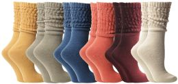 Yacht & Smith Slouch Socks For Women, Assorted Earth Tone Sock Size 9-11